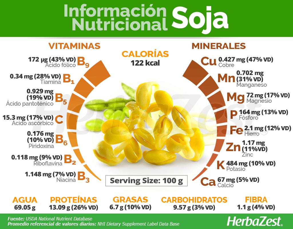 Información Nutricional De La Soja Soya Nutricional Beneficios De Alimentos Dieta Y Nutrición