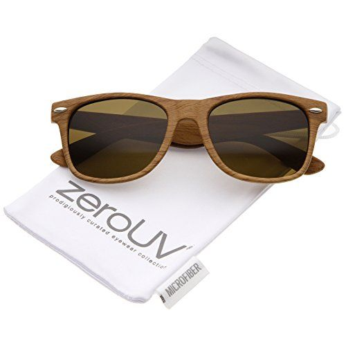 e57aa654f6e zeroUV Classic Shape Wood Printed Square Lens Horn Rimmed Sunglasses 55mm  Light Wood Brown     You can get additional details at the image link.