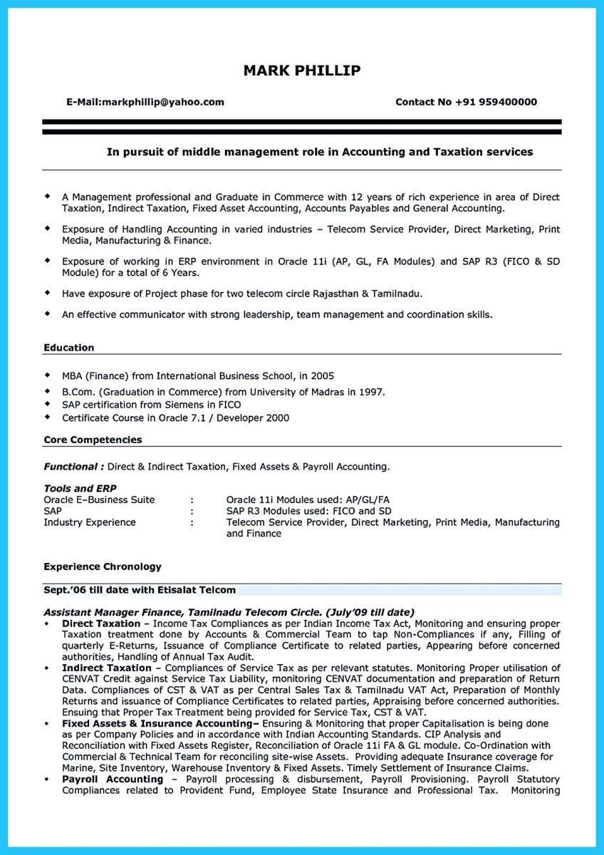 nice sample for writing an accounting resume - Payroll Accountant Resume