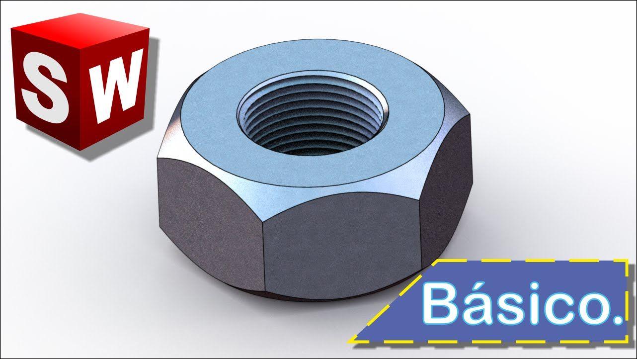 tutorial dise o b sico de una tuerca en solidworks 2014 espa ol rh pinterest com SolidWorks Assembly SolidWorks 2014 Release Date