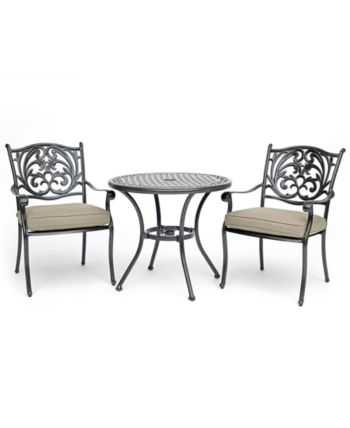 Furniture Chateau Outdoor Aluminum 3 Pc Dining Set 32 Outdoor