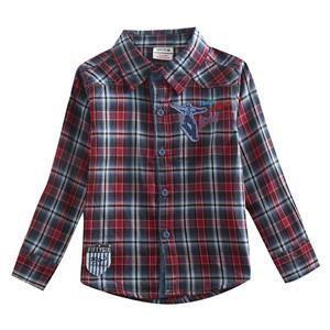 Boys Shirts, Fashion Printed Plaid Shirts