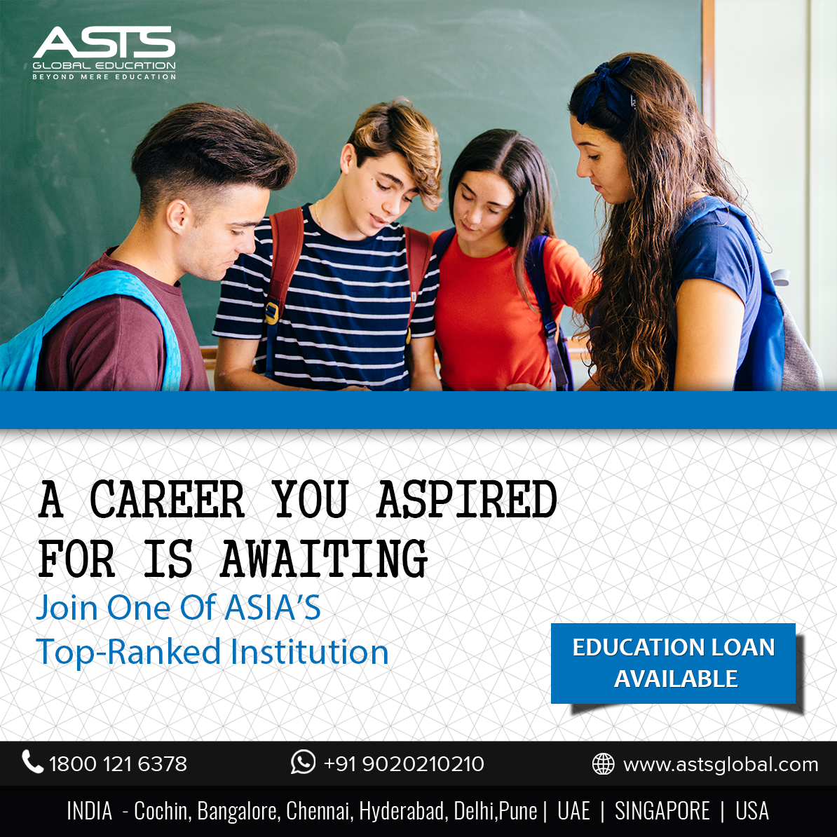 A Career You Aspired For Is Awaiting Join Asts Global Education Inc Today Contact Now At 91 9020 210 210 Kochi Global Education Education Engineering