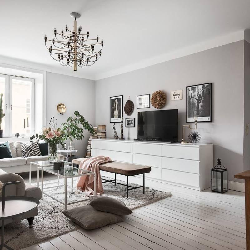 Room Redo Modern Eclectic Scandinavian Apartment Living Room