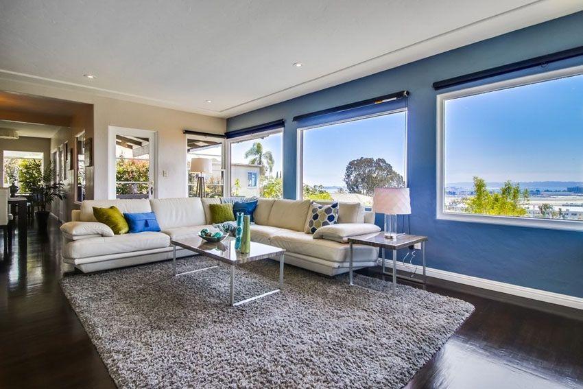 26 Blue Living Room Ideas Interior Design Pictures  Window View Classy Modern Living Room Ideas Inspiration Design