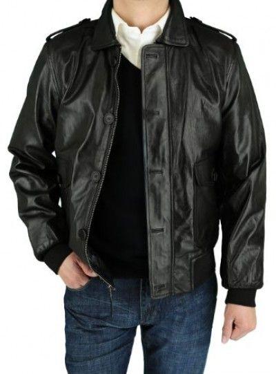 LUCIANO NATAZZI Mens Lambskin Leather Designer Moto Biker Jacket