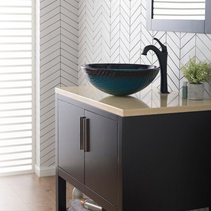Nei Glass Circular Vessel Bathroom Sink Glass Bathroom Sink Glass Sink Bathroom Decor
