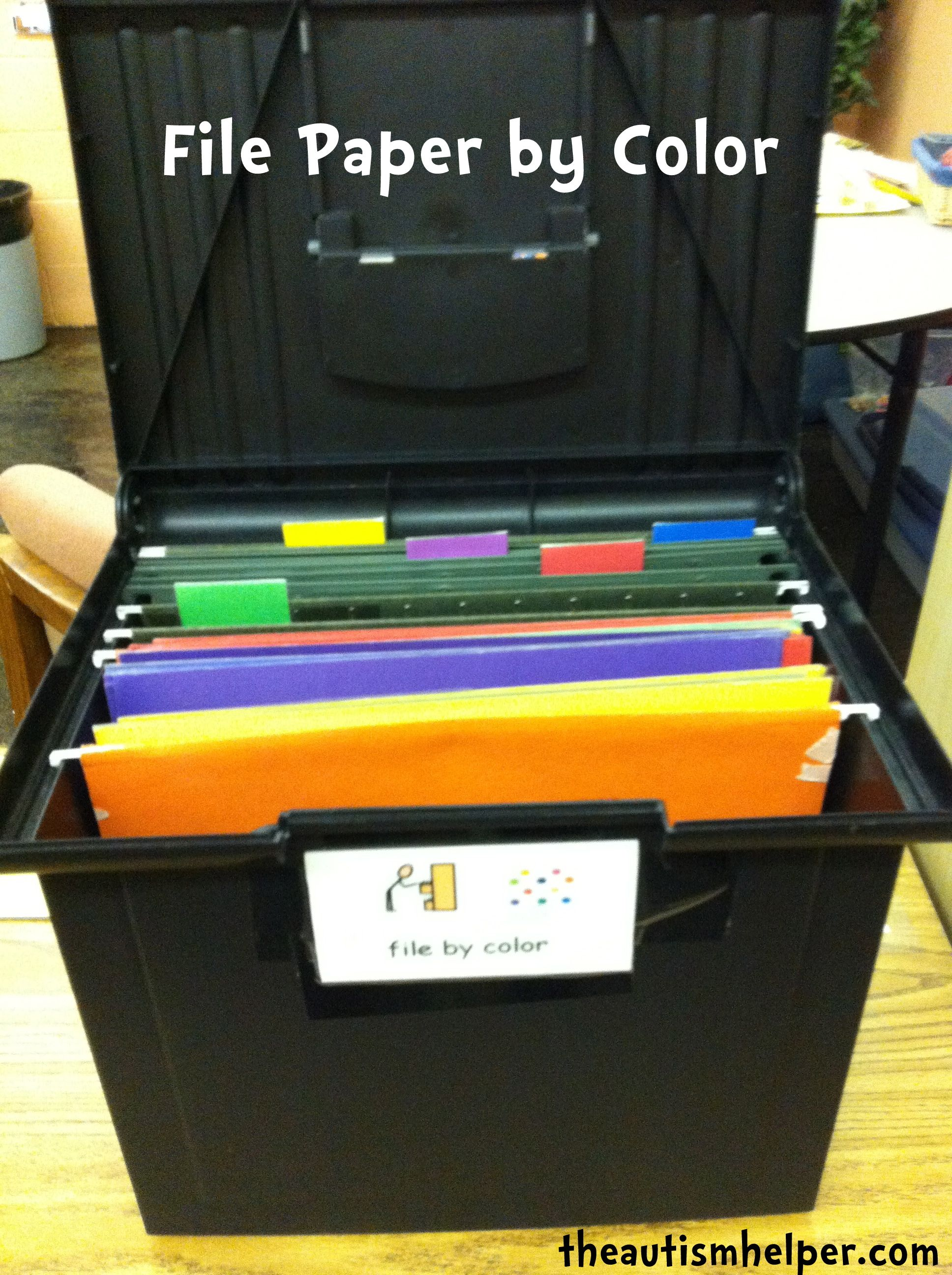 File Paper By Color