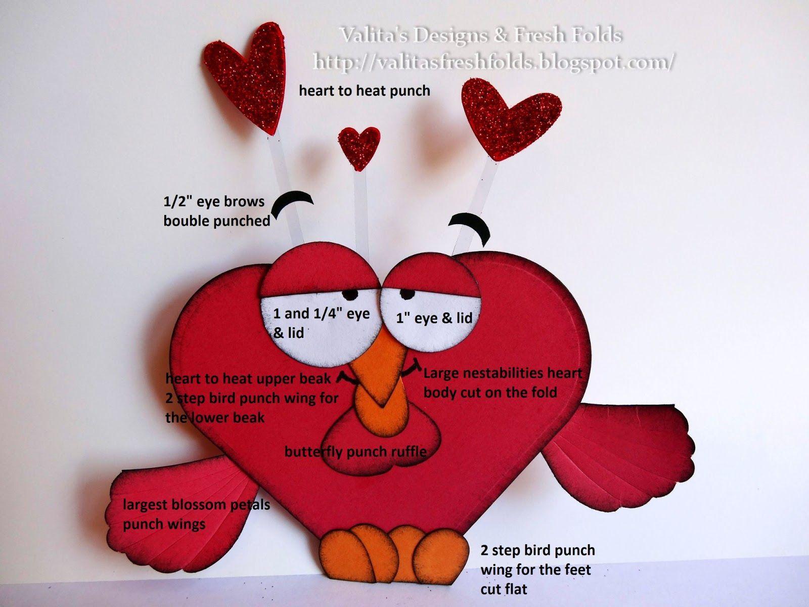 Love Sick Birdy Punch Art Bjl Punch Art Die Art Pinterest
