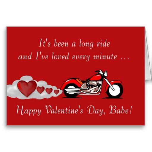 Happy Valentine S Day With Motorbike For Biker Holiday Card Zazzle Com Valentine Day Cards Happy Valentines Day Happy Birthday Biker