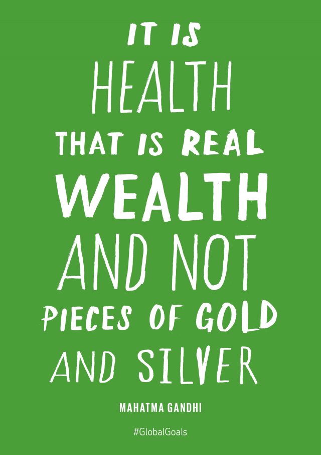 Globalgoals Goal 3 Good Health For All
