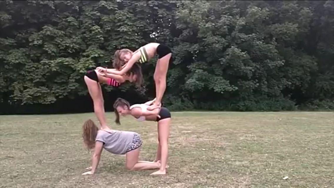 Acro Stunt Acro Yoga Poses Yoga Challenge Poses Acro Yoga