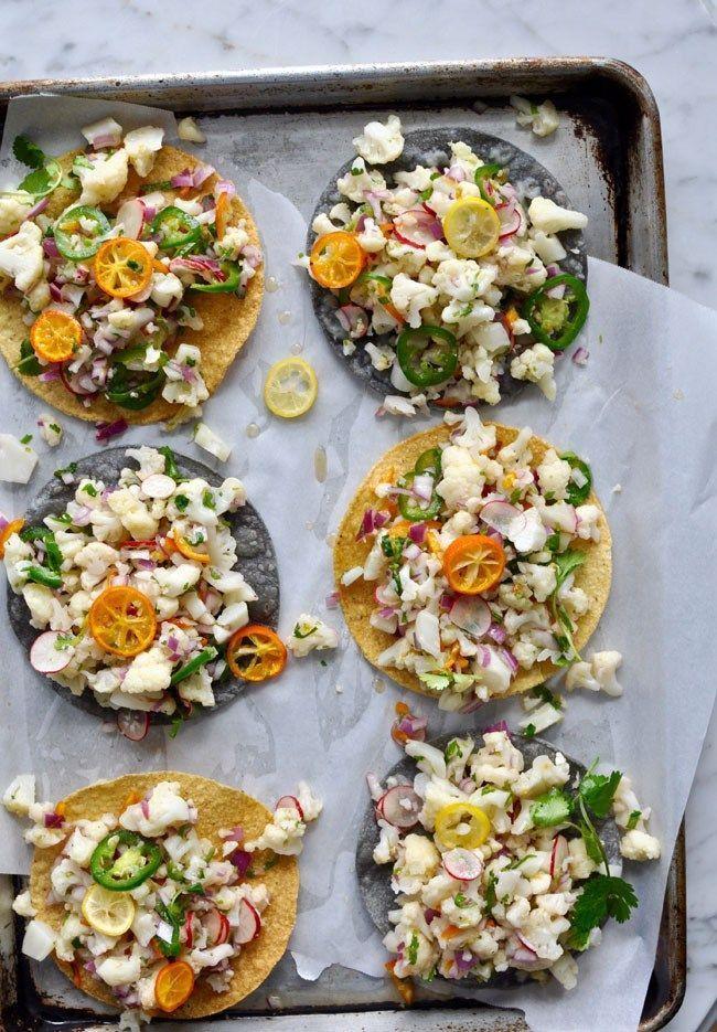 Favorite Light Bite: these Cauliflower Ceviche Tostadas via ¡Hola Jalapeño!