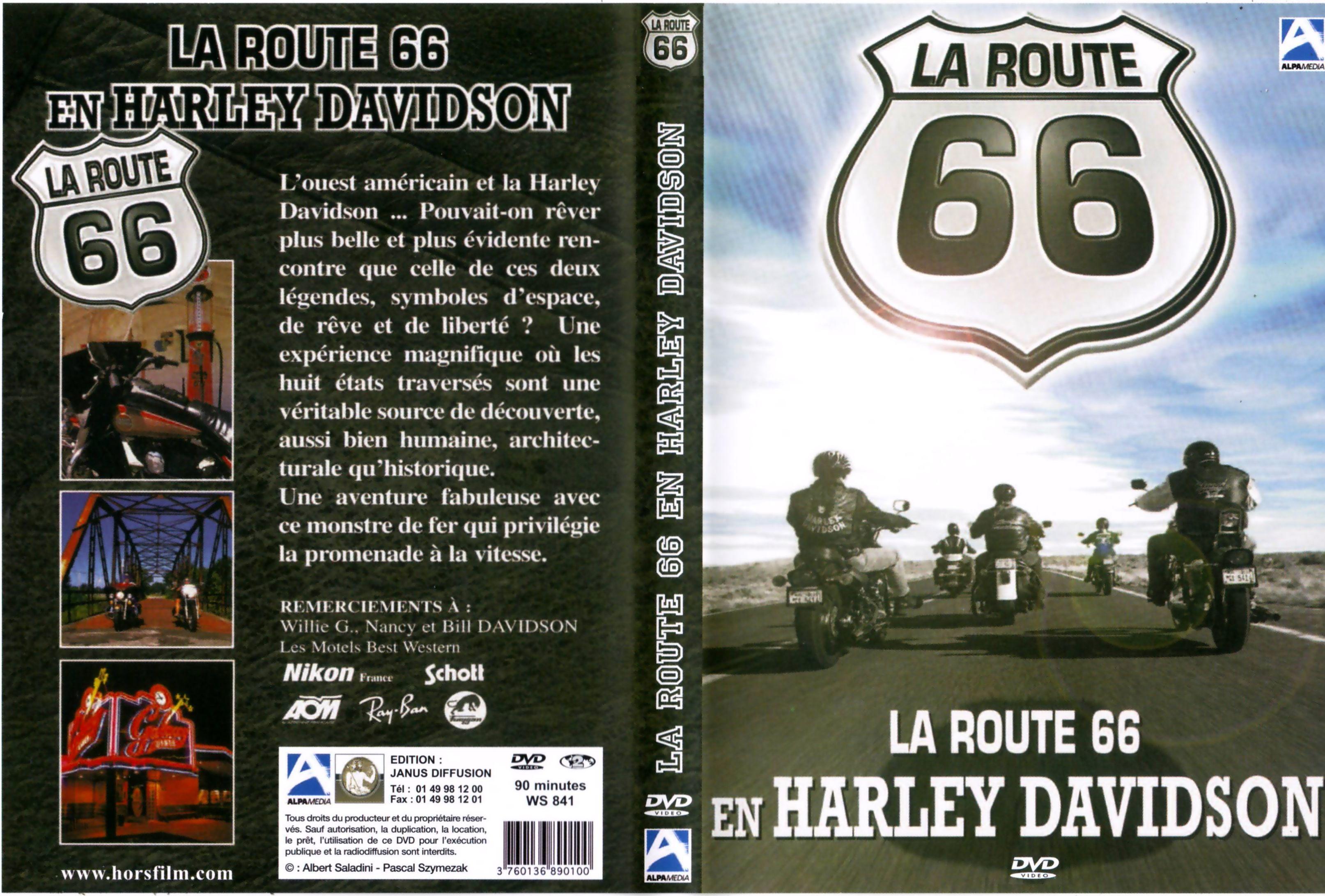 Harley Davidson Route 66 Art Jaquette Dvd De La Route 66 En Harley