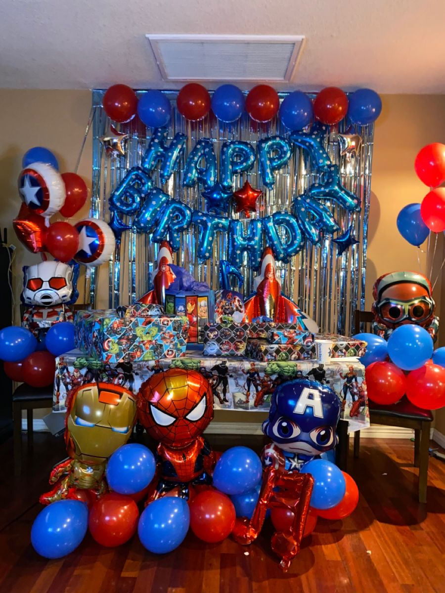 Avengers Party Supplies Avengers Birthday Decorations Superhero Balloons Set Avengers Birthday Decorations Superhero Birthday Party Decorations Spiderman Birthday Party Decorations
