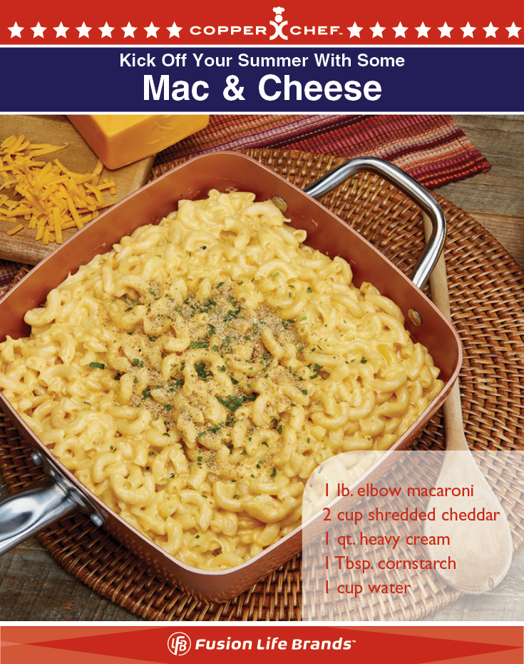 Mac And Cheese In One Pot Easy With Your Copper Chef Square Pan