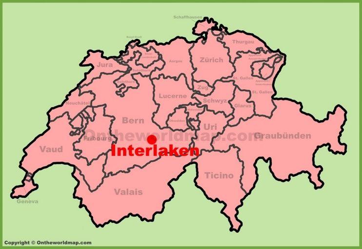 Interlaken location on the Switzerland map Maps Pinterest