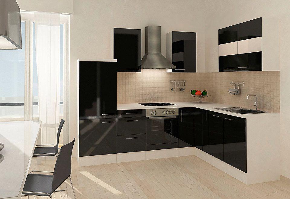 Respekta Küchenzeile mit E-Geräten »Mia«, 260 x 200 cm, Set 2 - küchenzeile weiß hochglanz