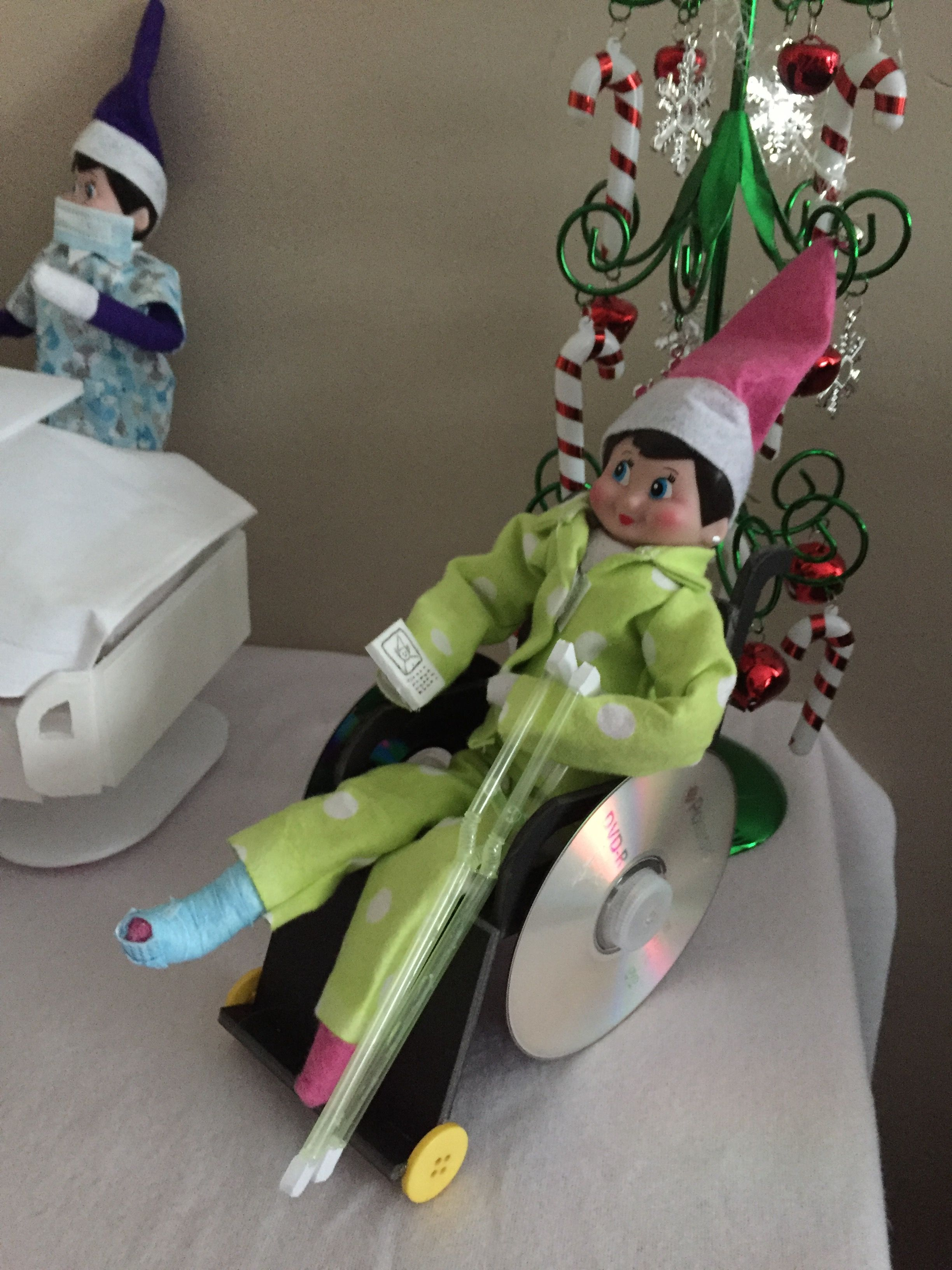 Wheelchair For Elf On The Shelf Elf Fun Elf On The Shelf Elf
