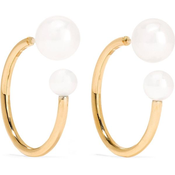 Sophie Bille Brahe Petite Kelly 14kt gold pearl earrings RMoKwH