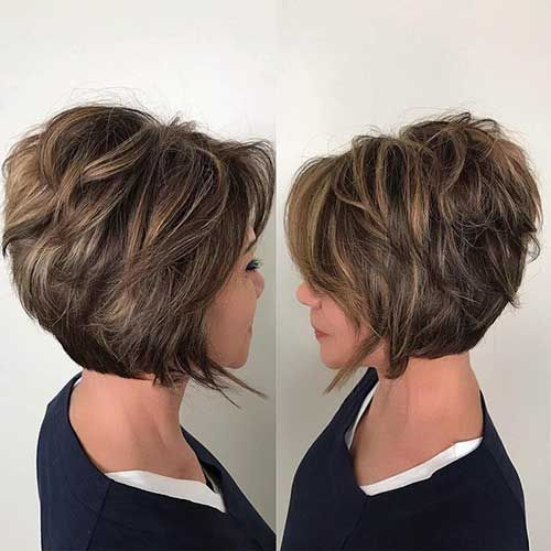 70 Best Short Bob Layered Haircuts For Women Over 50 In 2020 Short Hair With Layers Layered Haircuts For Women Short Hairstyles For Thick Hair