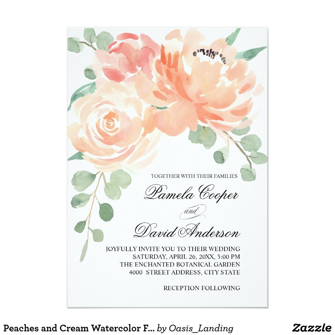 Luxury Watercolor Floral Wedding Invitations Wedding Ideas