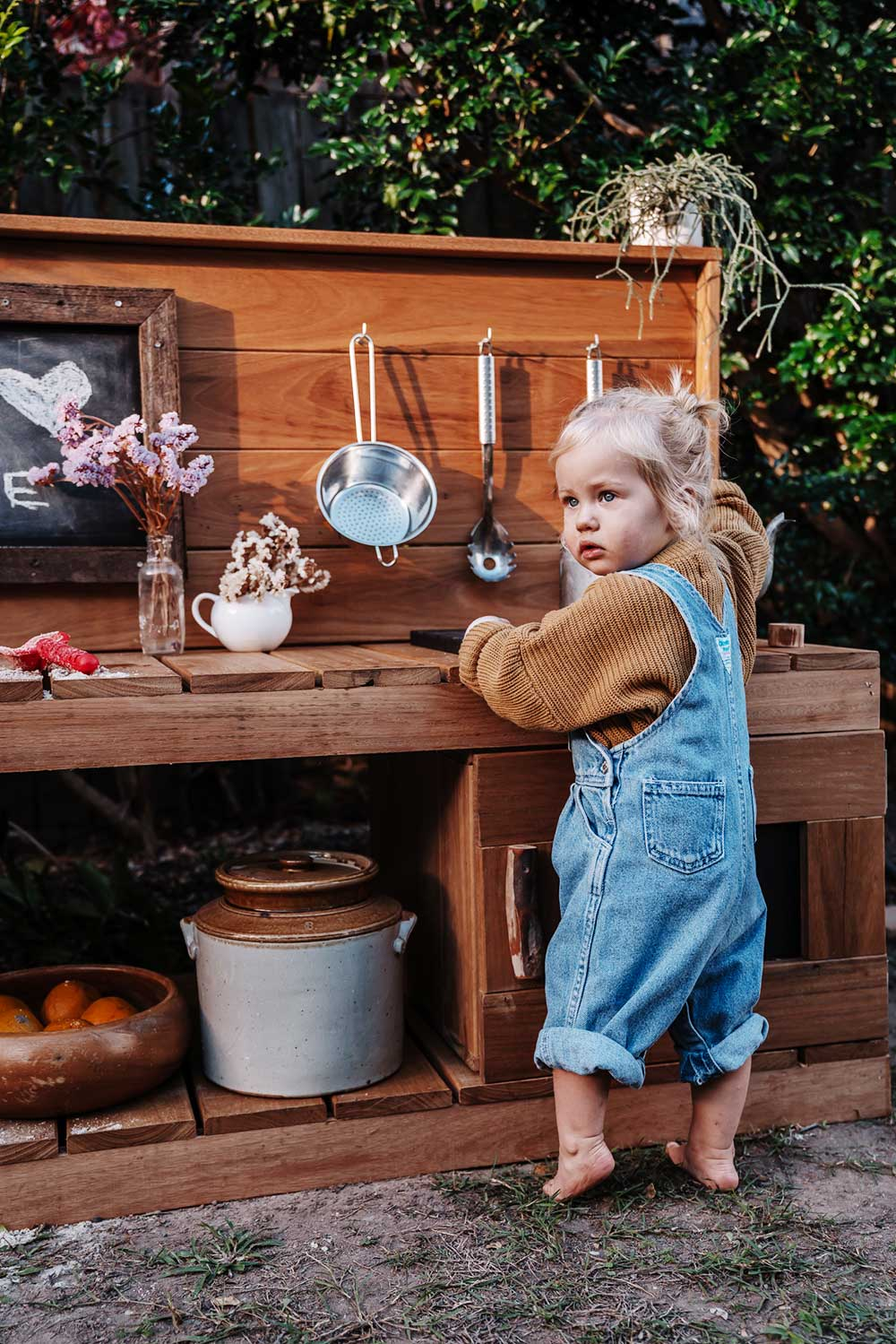 Castle and Cubby Hardwood Timber Mud Kitchen. Mud and