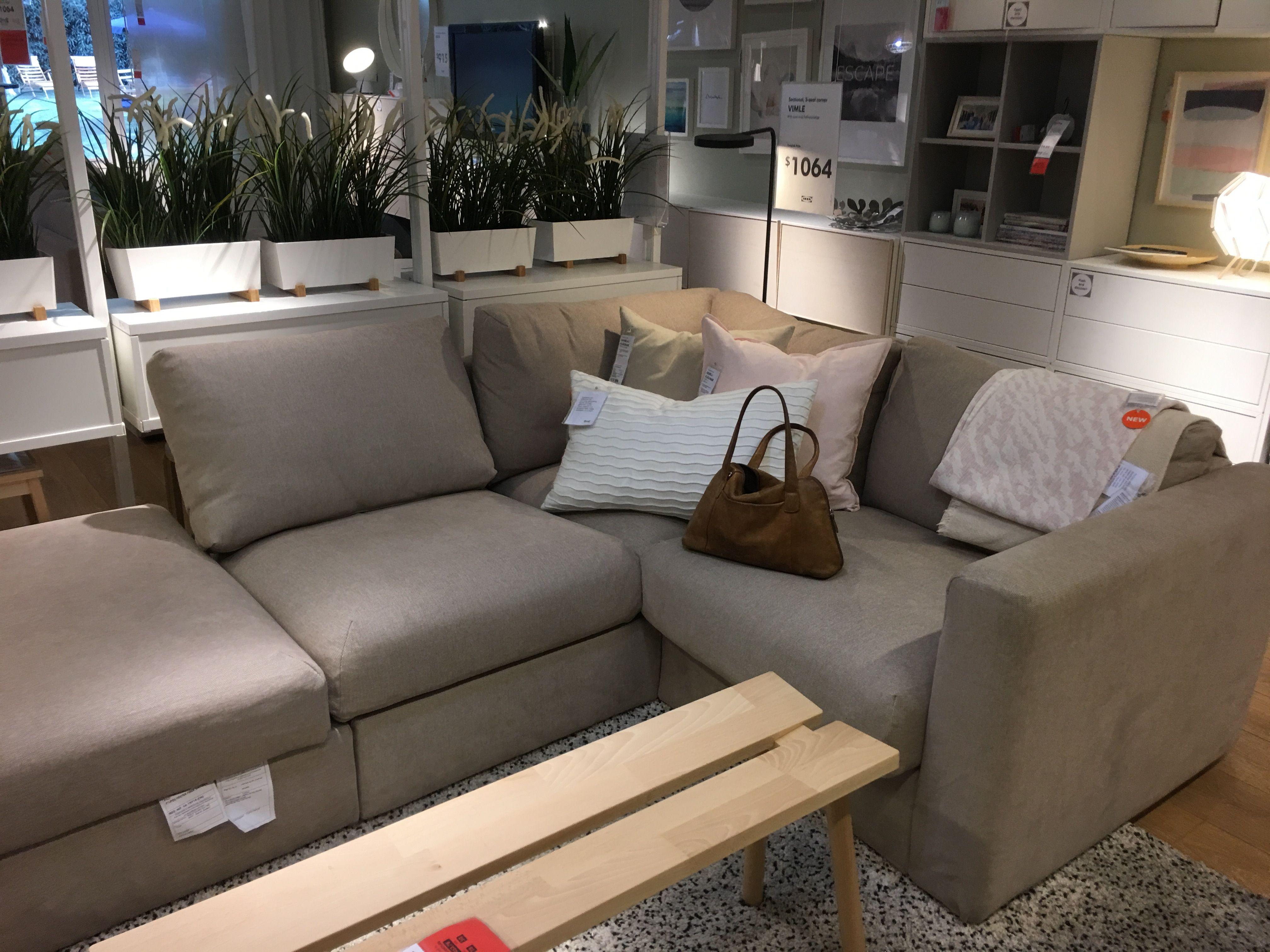 Vimle In Tallmyra Beige More Comfy Than The Grey One Ikea Sofa Living Room Sofa Ikea Shopping