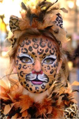 Simple Leopard Makeup Scary Halloween Costum...