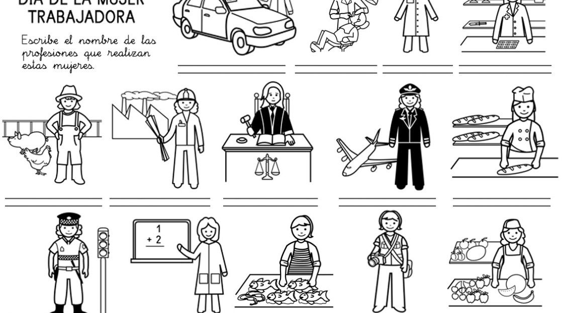 Dibujos Para Colorear Del Día De La Mujer Trabajadora Dia De La