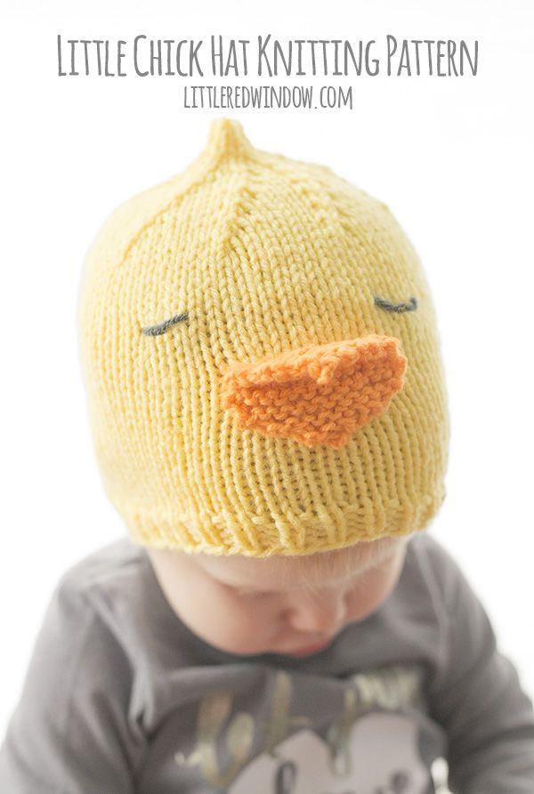 Little Chick Hat Knitting Pattern | Stricken für baby, Gestrickte ...