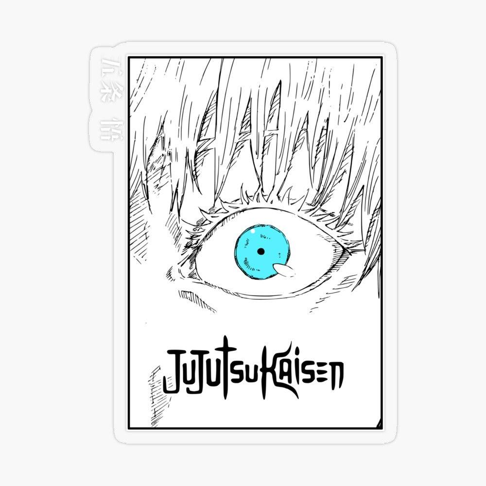 Gojo Satoru Eye Jujutsu Kaisen Transparent Sticker By Pawowe In 2021 Jujutsu Anime Accessories Coloring Stickers