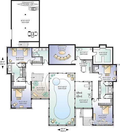 Plan De Maison Unifamiliale Coastal No 3928 Houses Plans