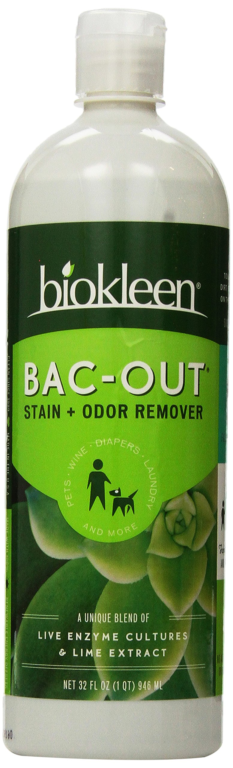 Bacout stain and odor eliminator 32 fl oz liquid odor