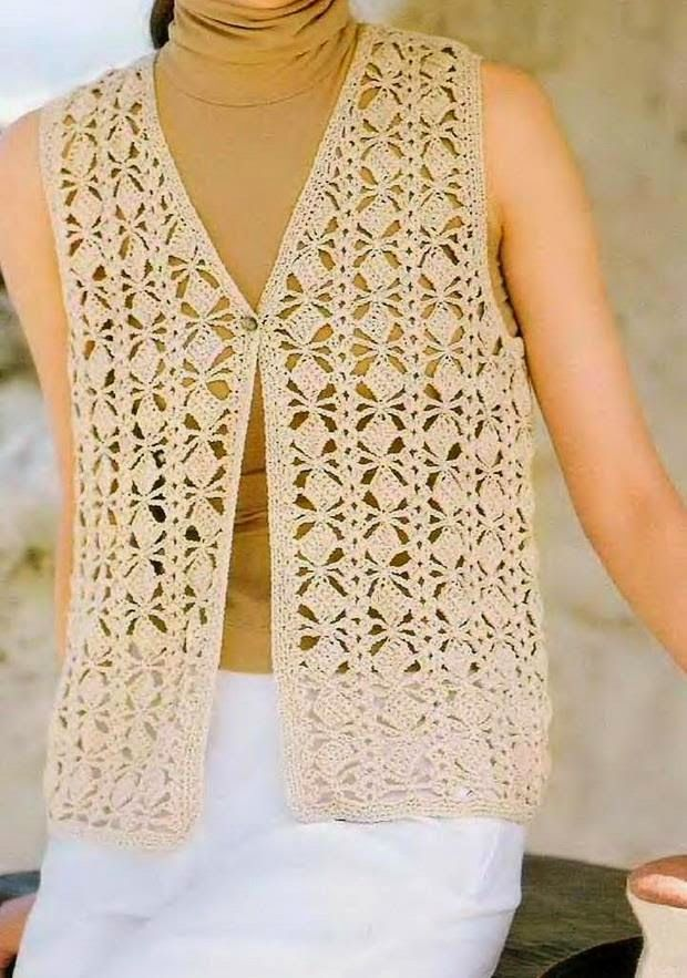 Crochet Sweaters Crochet Vest Pattern Classic Beautiful Stitch