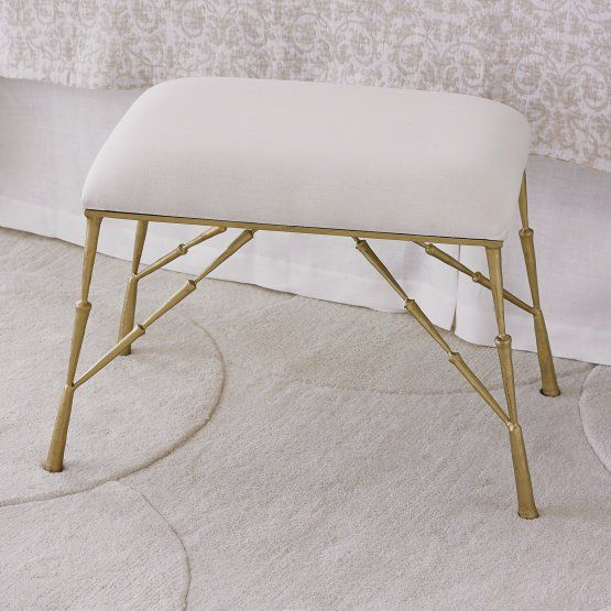 Studio A Home Spike 26 in Backless Indoor Bench with Muslin Cushion