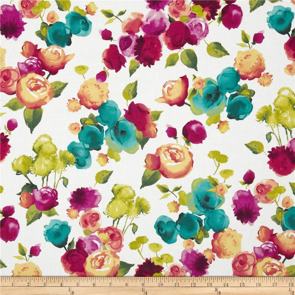 Florista Blooms Fuchsia from @fabricdotcom  From Hoffman California International Fabrics, this cotton print is perfect for quilting, apparel and home decor accents.  Colors include orchid, raspberry, yellow, green, white, citron, and jade.