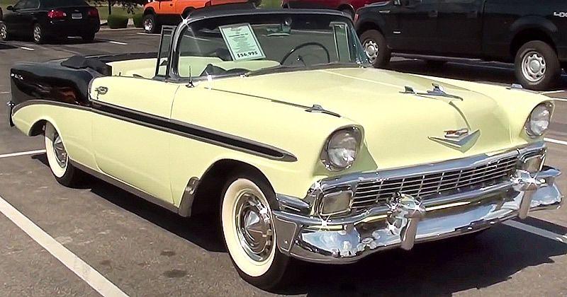 1956 Chevrolet Bel Air Convertible Crocus Yellow And Laurel
