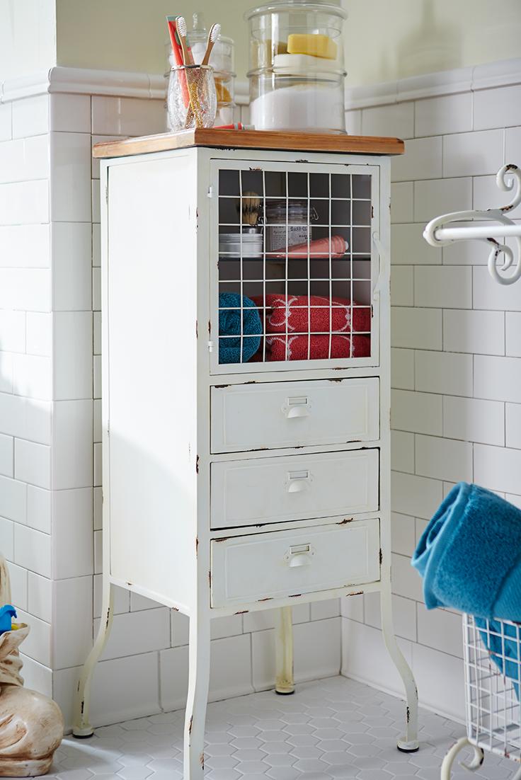 Antique White Bathroom Cabinet | Pinterest | Adjustable shelving ...