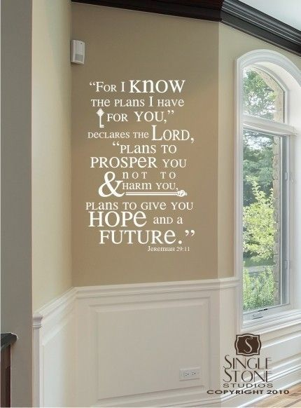 Bible verse wall decals jeremiah vinyl wall stickers art scripture bible custom home decor