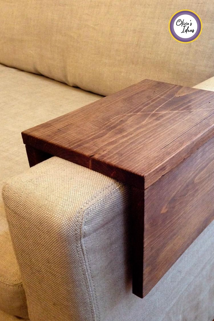 Wooden Couch Arm Shelf 21 Home Decor Ideas On A Budget For The Apartment Or Office Couch Arm Table Sofa Arm Table Diy Sofa
