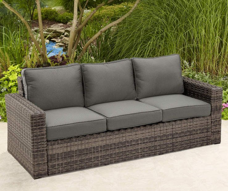 Wicker Deep Seating Patio Furniture.Shadow Creek All Weather Wicker Deep Seating Set 3 Person Sofa