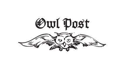 Harry Potter owl post rubber stamp.