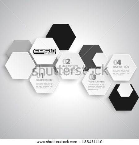 Modern Hexagon Design - eps10 - stock vector