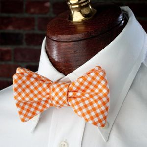 5686dfbb937b High Cotton Ties Endzone Orange Bow Tie. This is the perfect bow tie for  Tennessee Vols fans, students, alumnae, or professors.