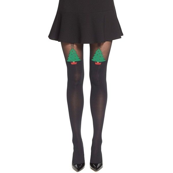 069e5d57d Pretty Polly  Christmas Tree  Tights ( 20) ❤ liked on Polyvore featuring  intimates