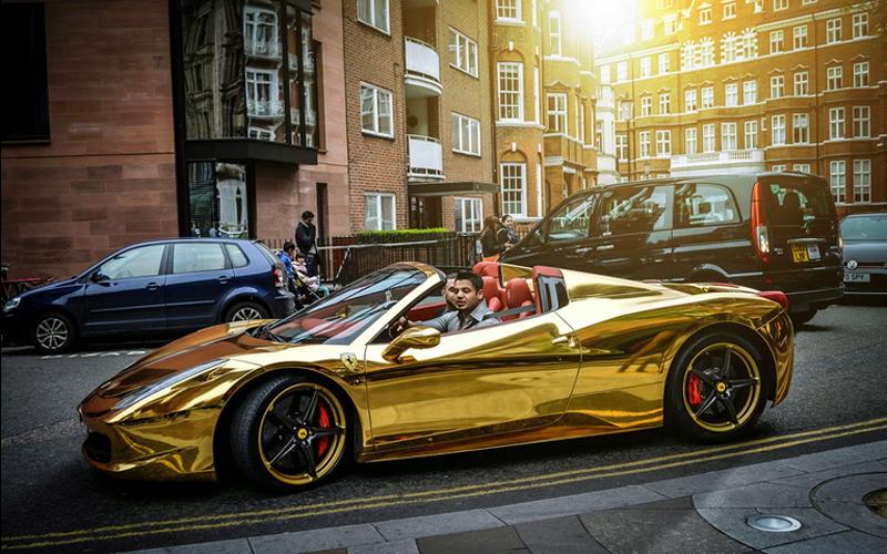 Ferrari 485 Spider Chrome Gold Cars Bikes And Boats Pinterest
