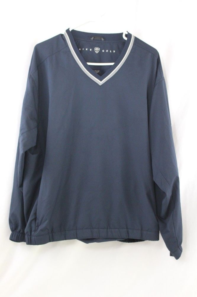 0dd6f5309447 Mens Nike Golf Pullover Windbreaker Jacket Navy Blue Size L  Nike ...
