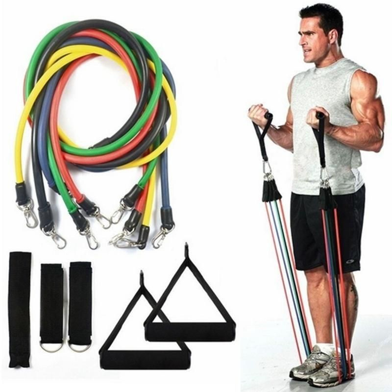 Natural Latex Rubber Fitness Resistance Bands Strengthen Train Pull Up Band