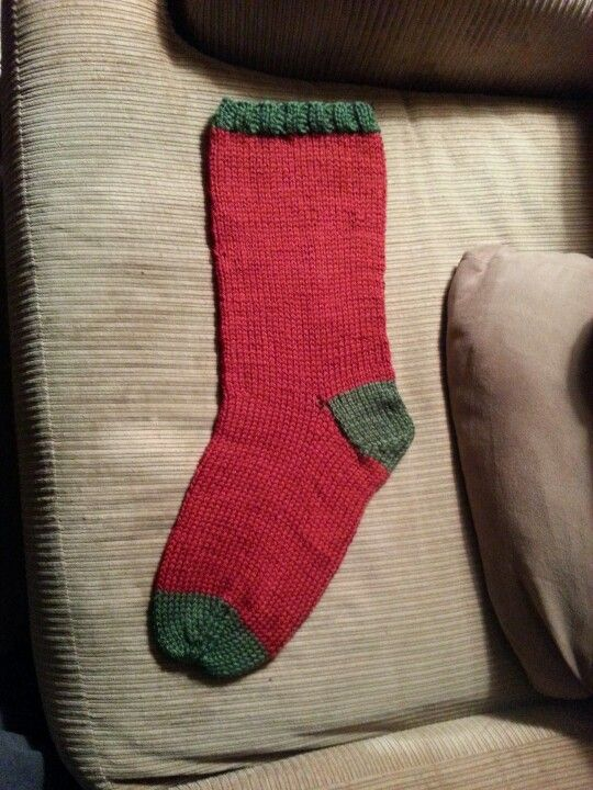 Knitted Christmas stocking i need to learn how to make ...